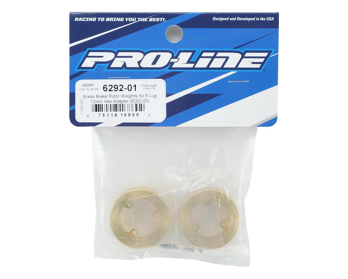 Pro-Line 6 Lug Brass Brake Rotor Weights (2)