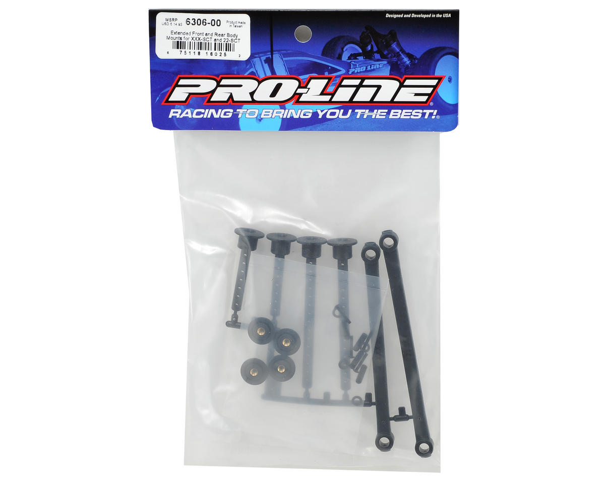 Pro-Line XXX-SCT/22-SCT Extended Front & Rear Body Mounts
