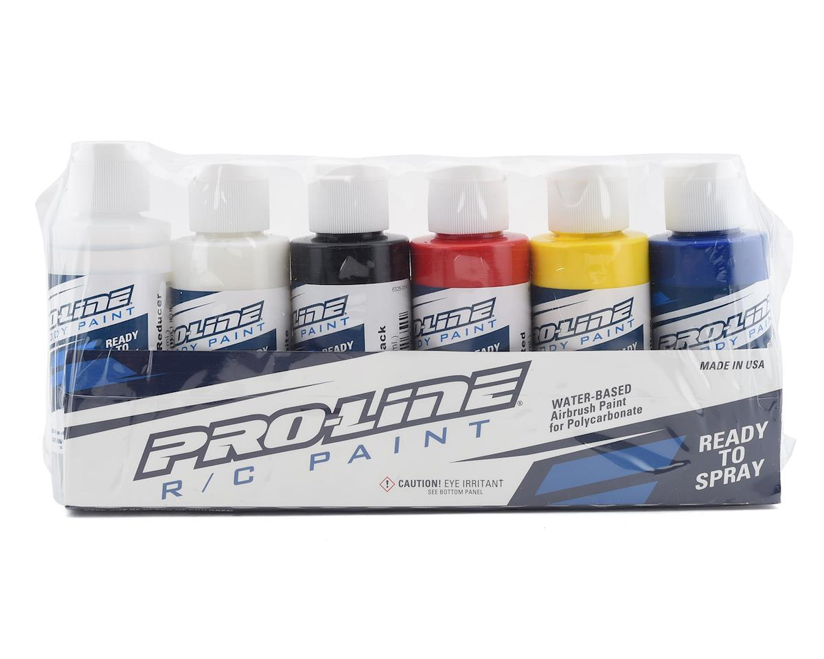 Pro-Line RC Body Airbrush Paint Primary Color Set (6)