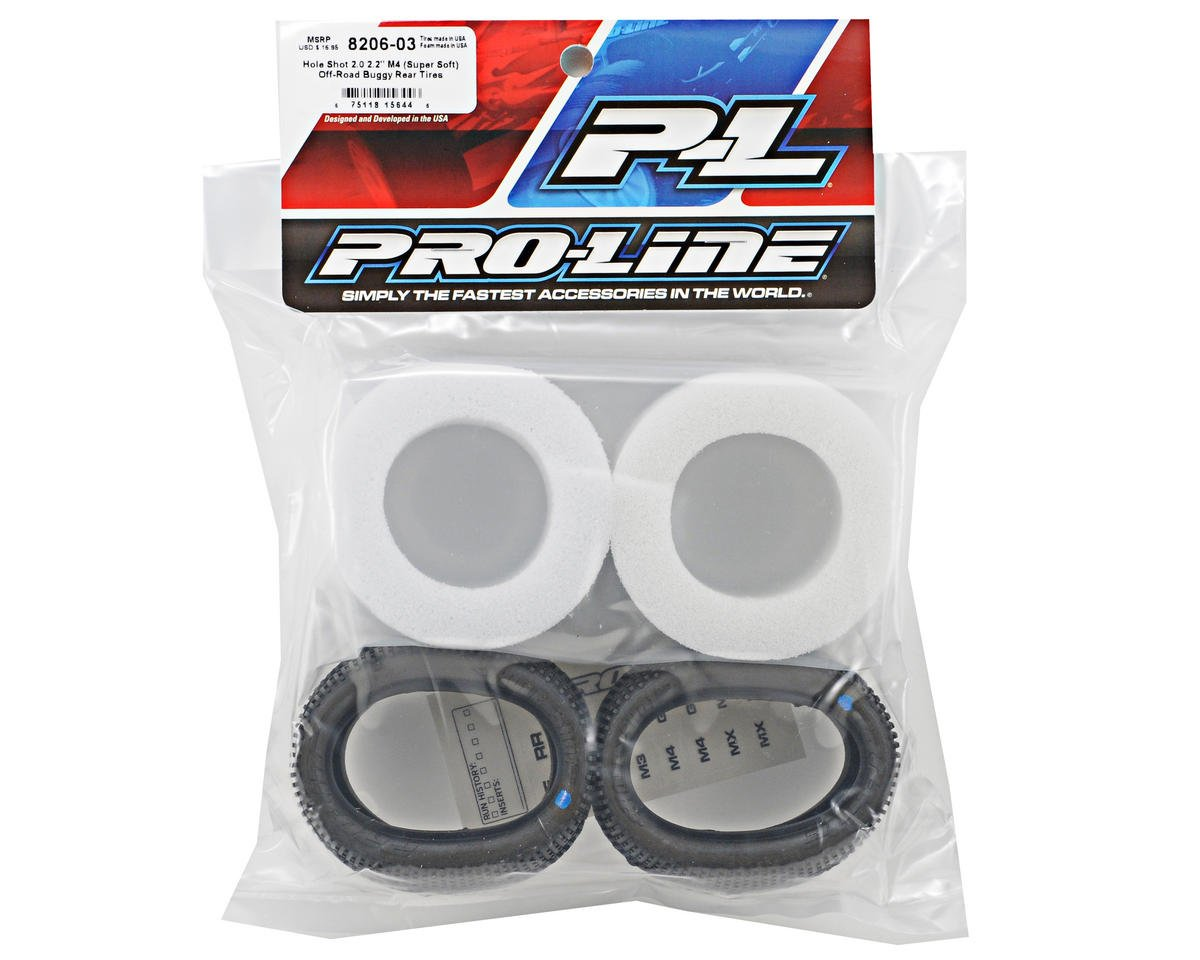 "Pro-Line Hole Shot 2.0 2.2"" Rear Buggy Tires (2) (M4)"
