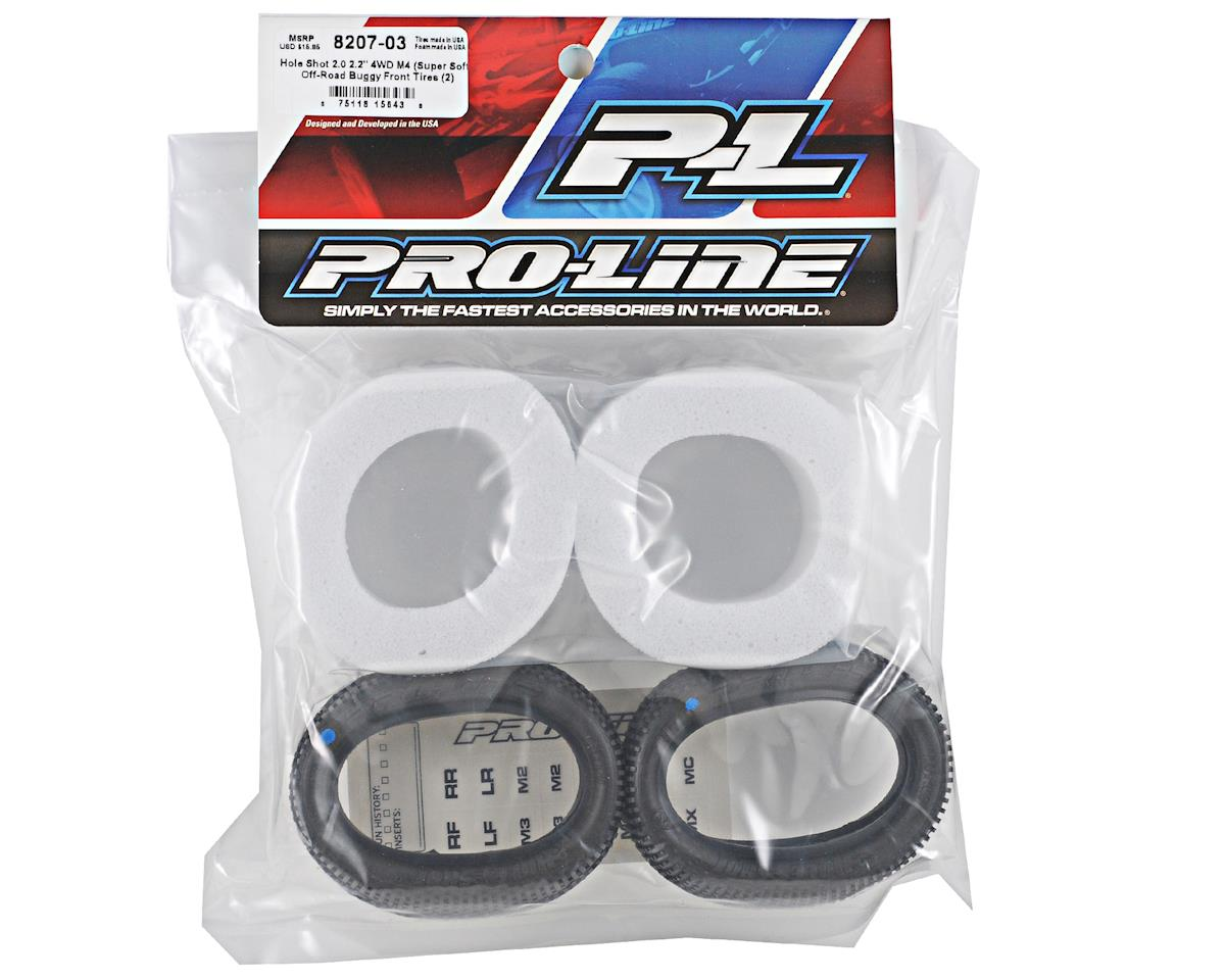 "Pro-Line Hole Shot 2.0 2.2"" 4WD Buggy Front Tires (2) (M4)"