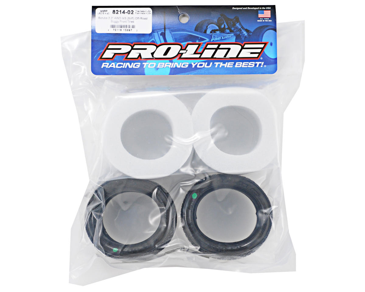 Pro-Line Scrubs M3 4WD Front Buggy Tires (2)