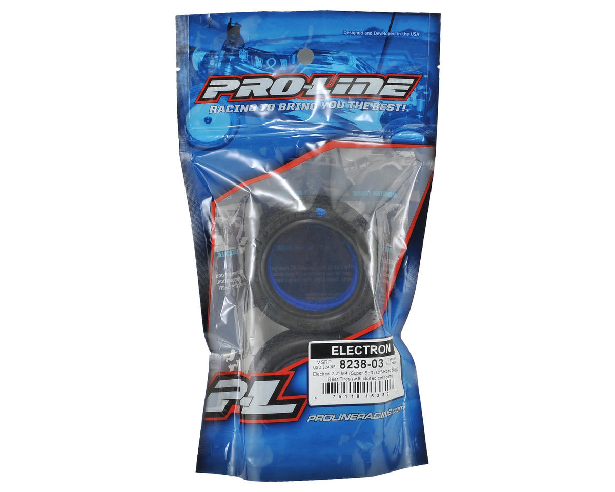 "Electron 2.2"" Rear Buggy Tires (2) (M4) by Pro-Line"
