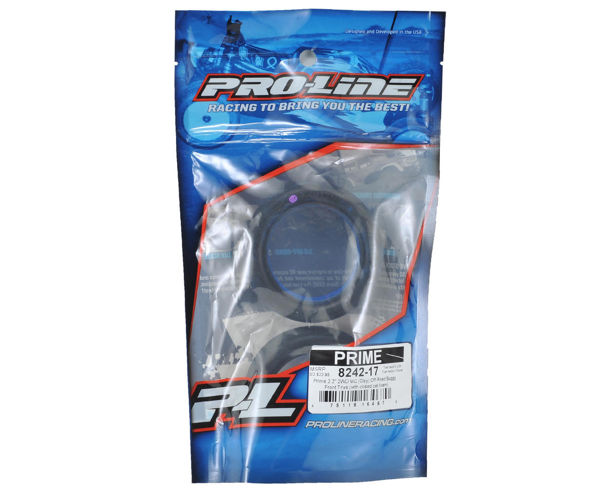 "Prime 2.2"" 2WD Front Buggy Tires (2) (MC) by Pro-Line"