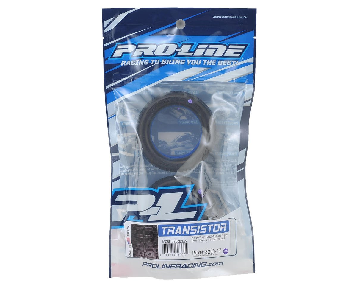 "Transistor 2.2"" 2WD Front Buggy Tires (2) (MC) by Pro-Line"