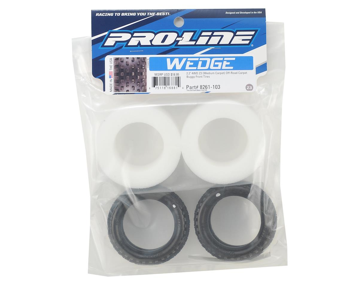 "Pro-Line Wedge Carpet 2.2"" 4WD Front Buggy Tires (2) (Z3)"