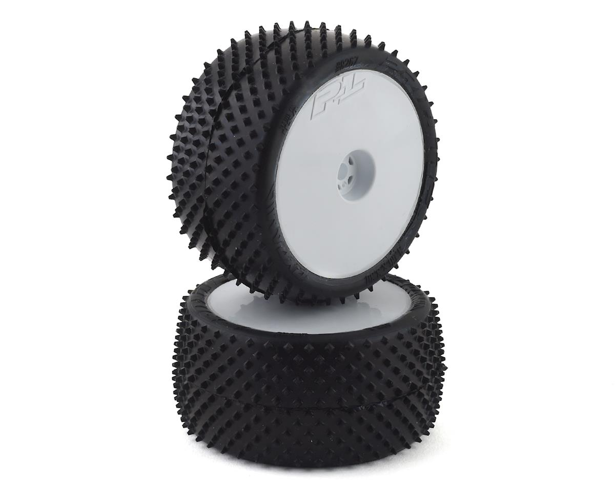 """Pro-Line Pyramid 2.2"""" Rear Buggy Pre-Mounted Carpet Tires (White) (2) (Z4)"""