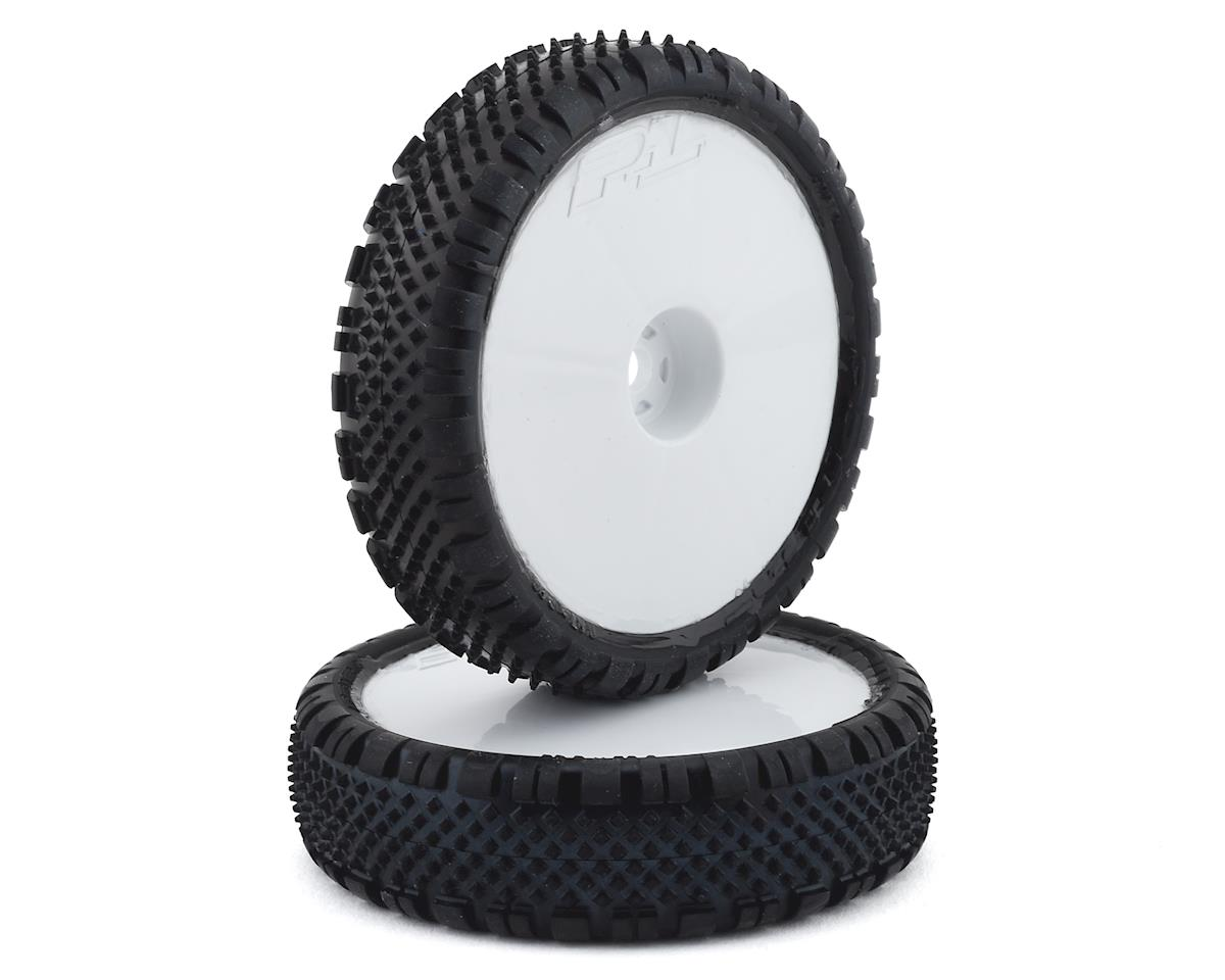 """Pro-Line Prism 2.2"""" 2WD Front Buggy Pre-Mounted Carpet Tires (White) (2) (Z3)"""