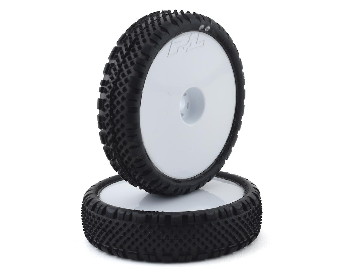 """Pro-Line Prism 2.2"""" 2WD Front Buggy Pre-Mounted Carpet Tires (White) (2) (Z4) 