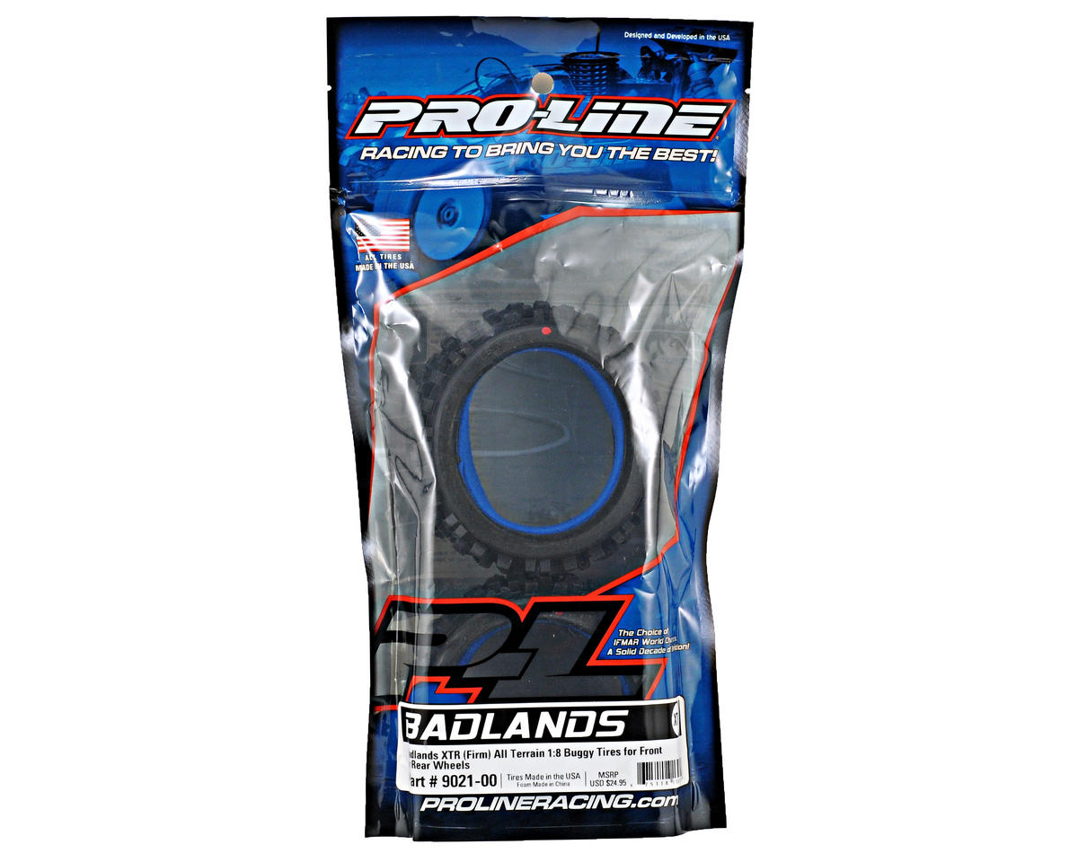 Pro-Line Badlands 1/8 Buggy Tires w/Closed Cell Inserts (2) (XTR)