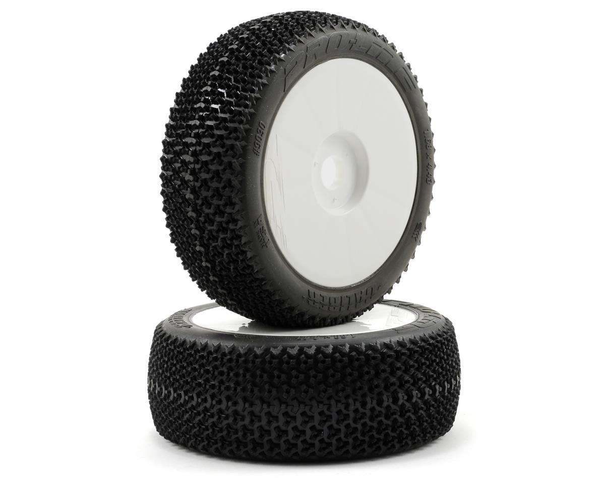 Pro-Line Caliber V2 Pre-Mounted 1/8 Buggy Tires (2) (White)