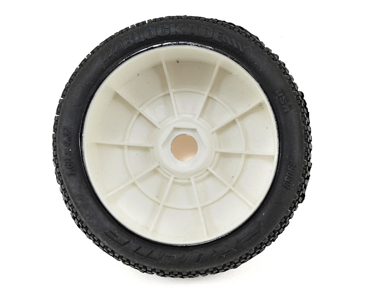 Blockade Pre-Mounted 1/8 Buggy Tires (2) (White) (X2) by Pro-Line