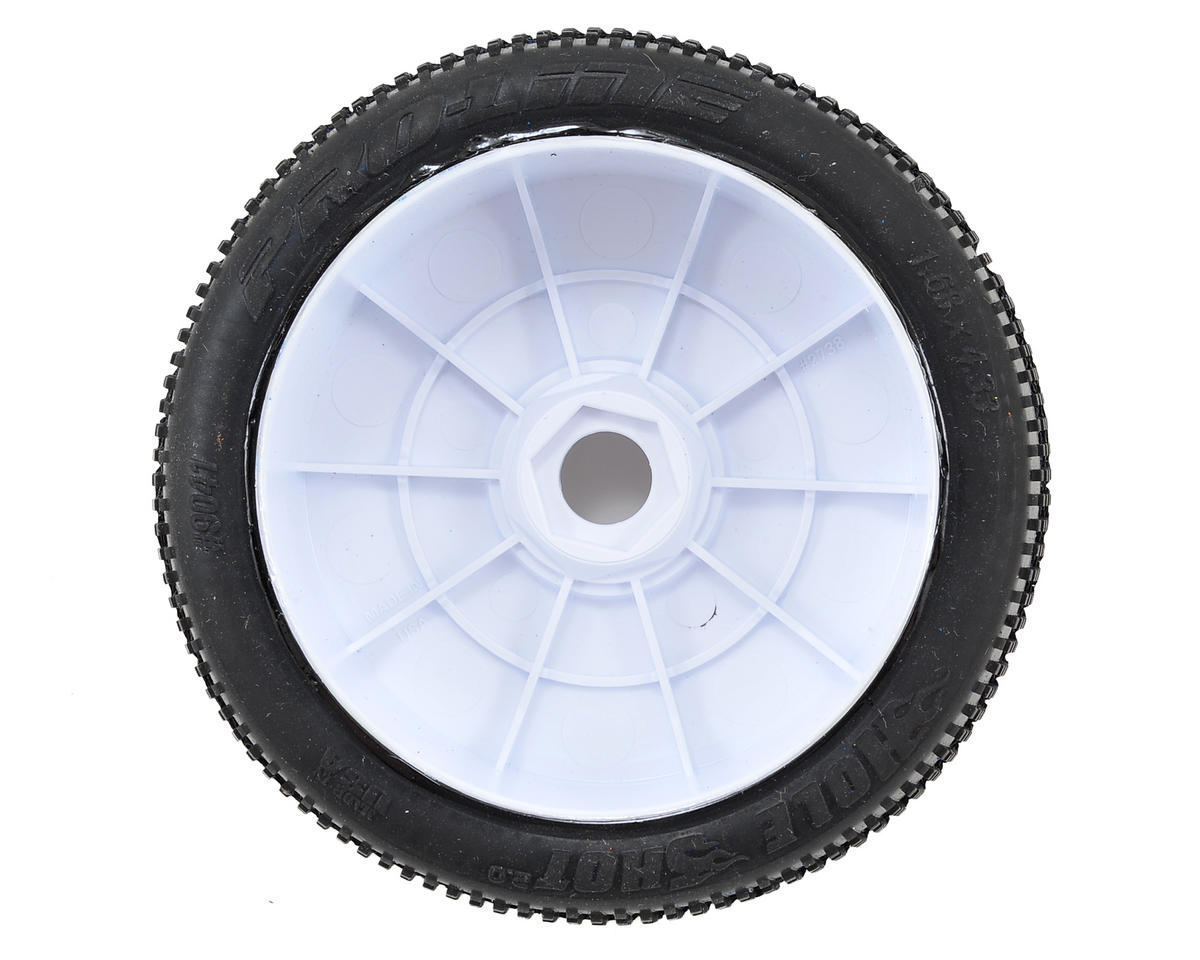 Pro-Line Hole Shot 2.0 Pre-Mounted 1/8 Buggy Tires (Velocity) (2) (White) (X3)