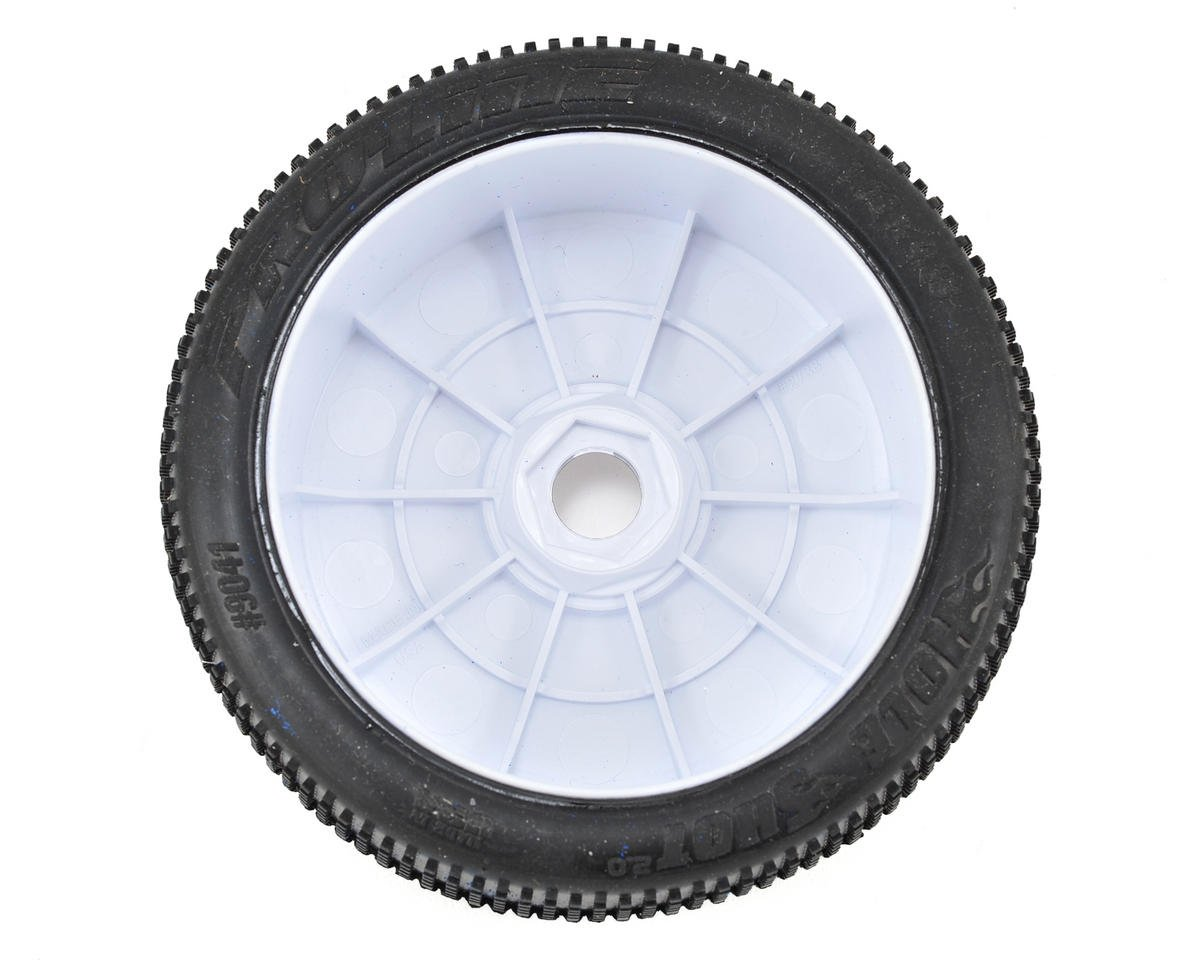 Pro-Line Hole Shot 2.0 Pre-Mounted 1/8 Buggy Tires (2) (White) (X4)