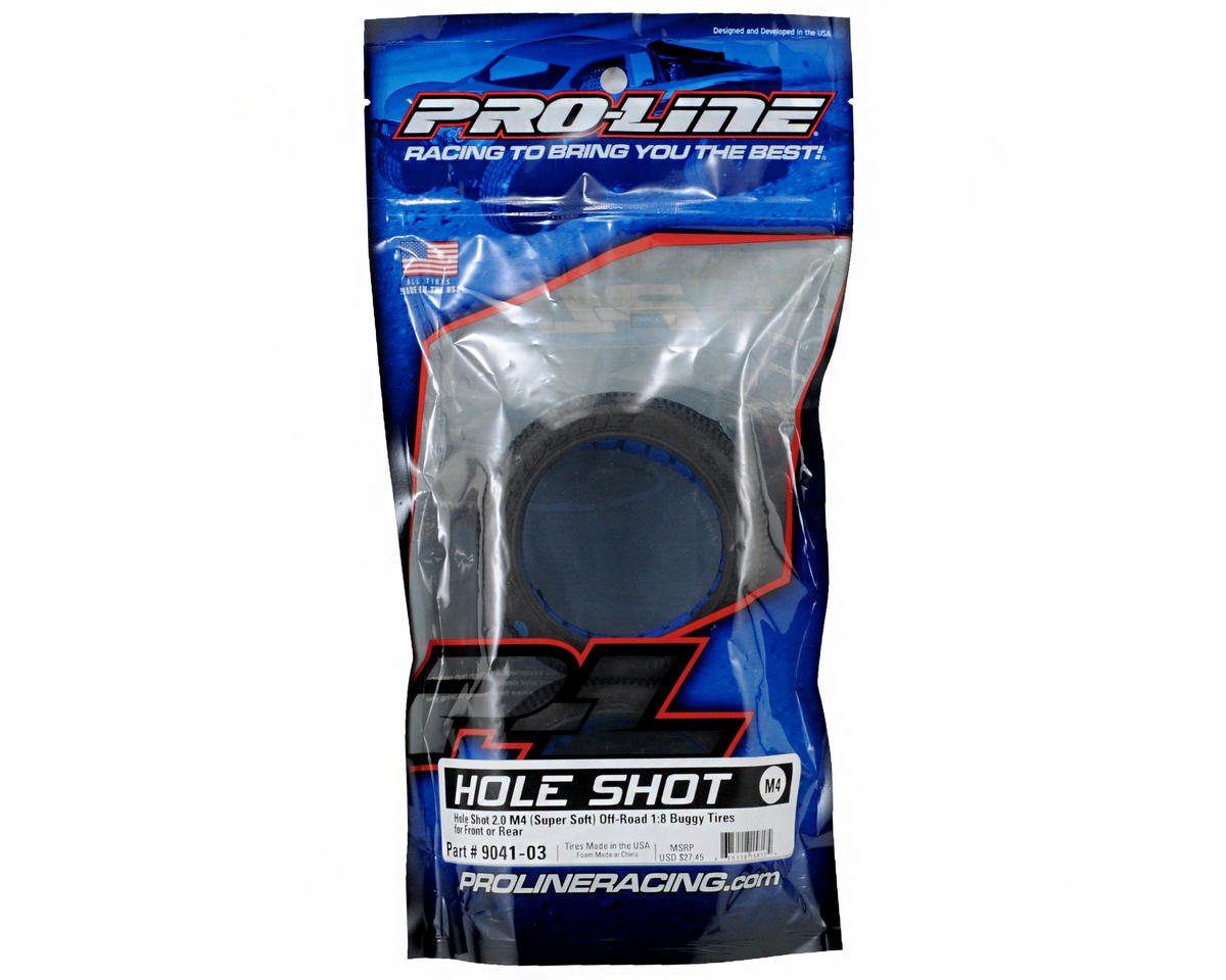 Pro-Line Hole Shot 2.0 1/8 Buggy Tires w/Closed Cell Inserts (2) (M4)