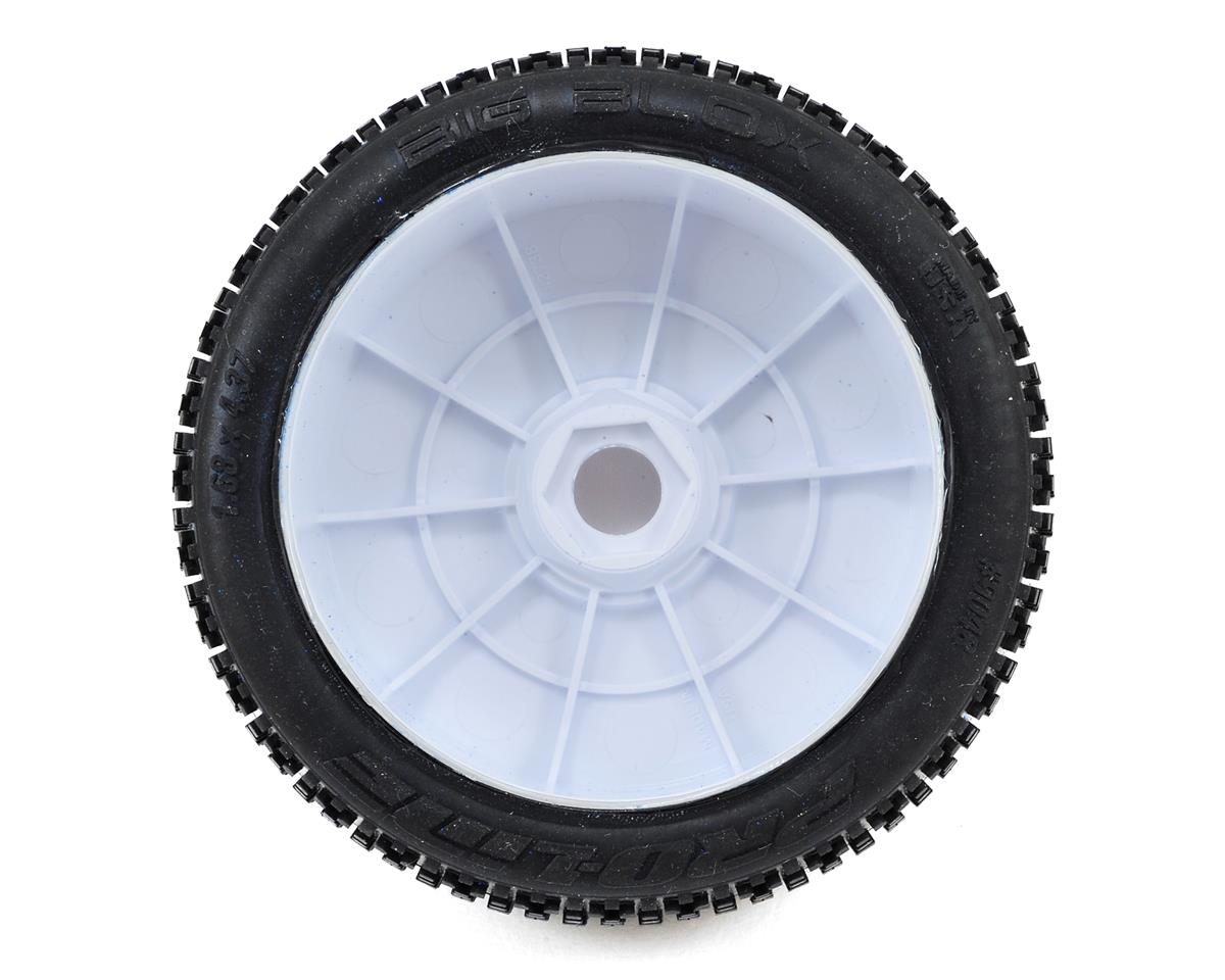 Pro-Line Big Blox Pre-Mounted 1/8 Buggy Tires (2) (White) (X2)