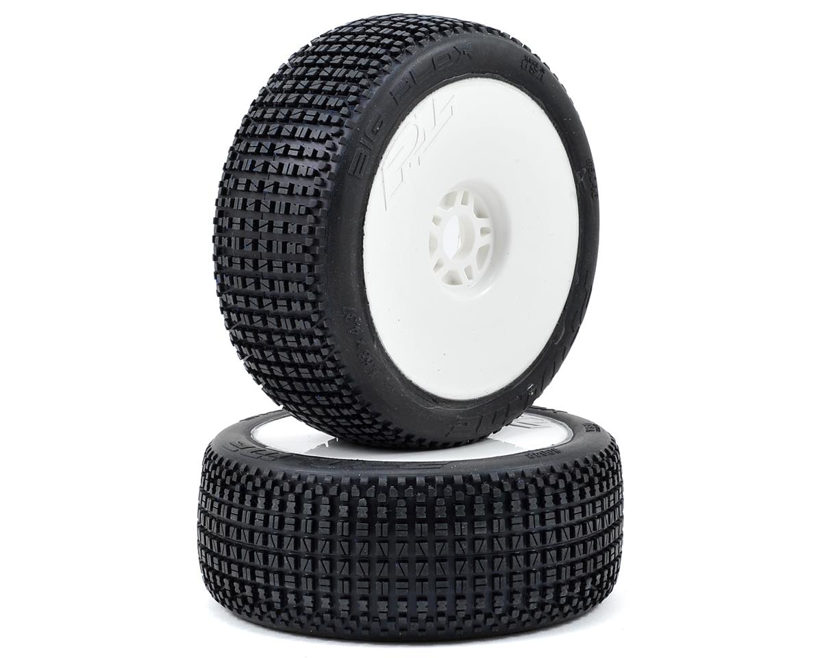Pro-Line Big Blox Pre-Mounted 1/8 Buggy Tires (Velocity) (2) (White) (X3)