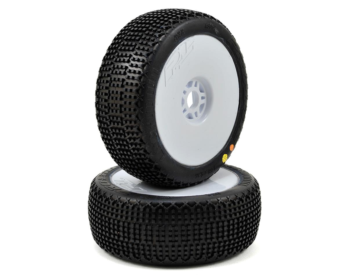 Pro-Line LockDown Pre-Mounted 1/8 Buggy Tires (2) (White)