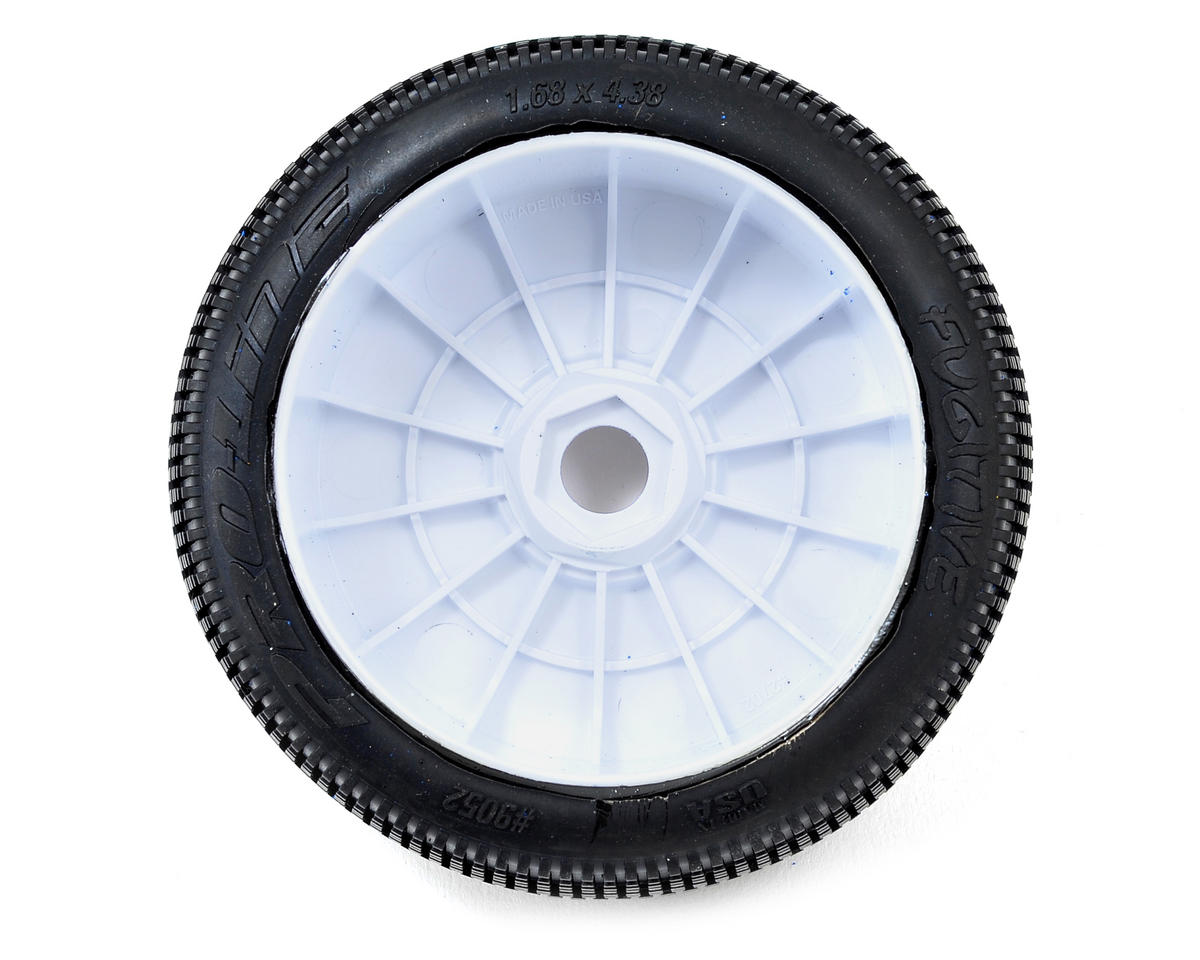 Pro-Line Fugitive Pre-Mounted 1/8 Buggy Tires (Velocity) (2) (White) (X3)