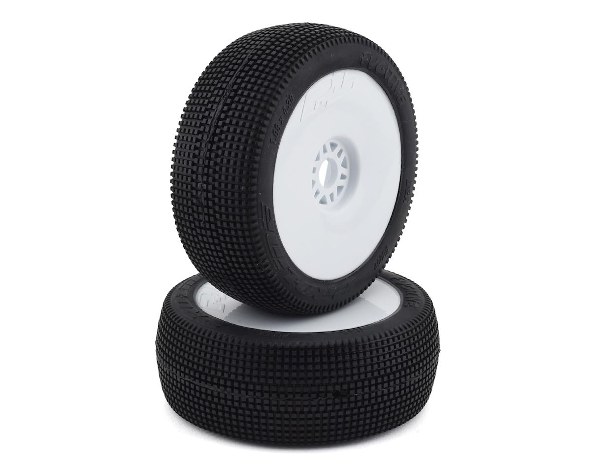 Pro-Line Fugitive Pre-Mounted 1/8 Buggy Tires (2) (White) (S2)