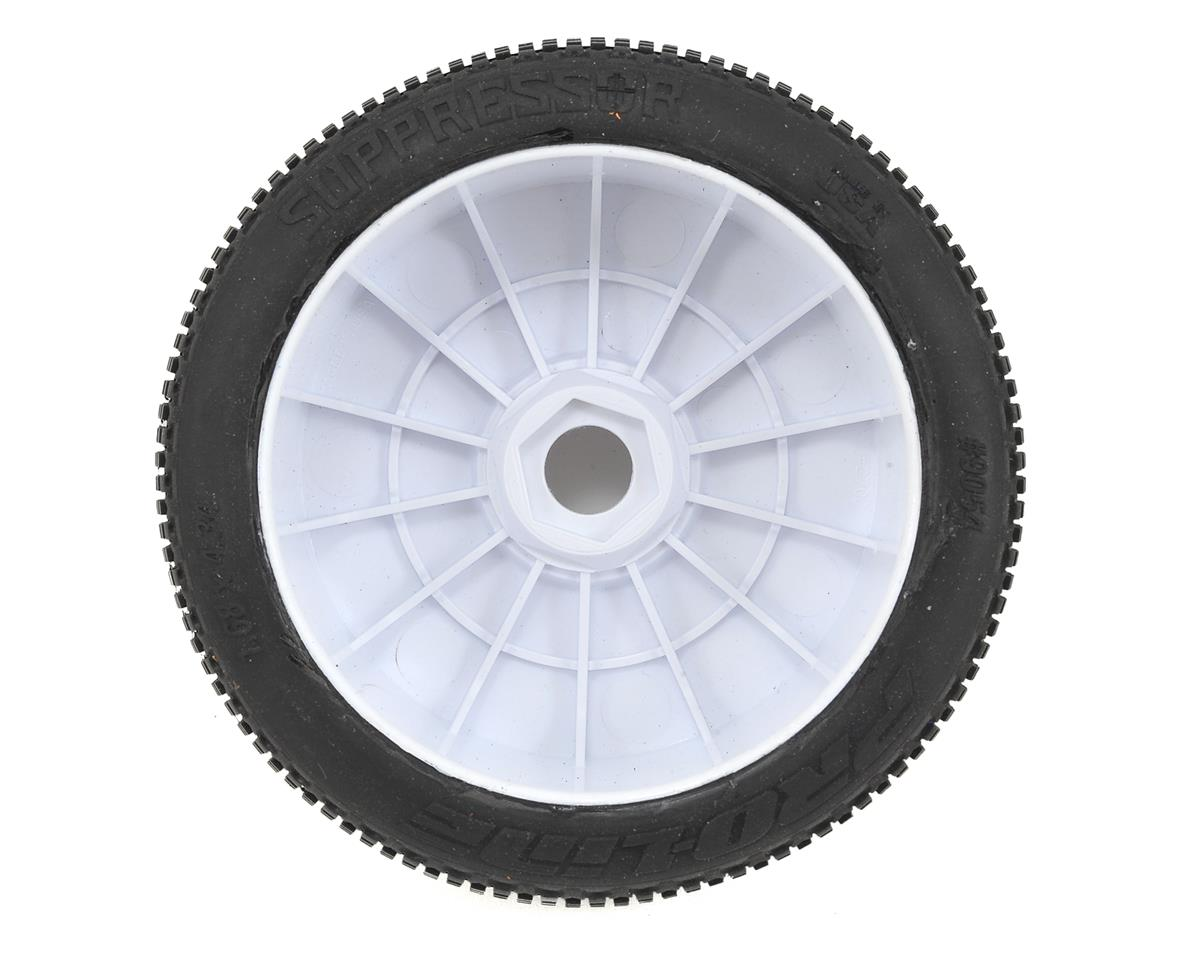 Pro-Line Suppressor Pre-Mounted 1/8 Buggy Tires (Velocity) (White) (2) (X2)