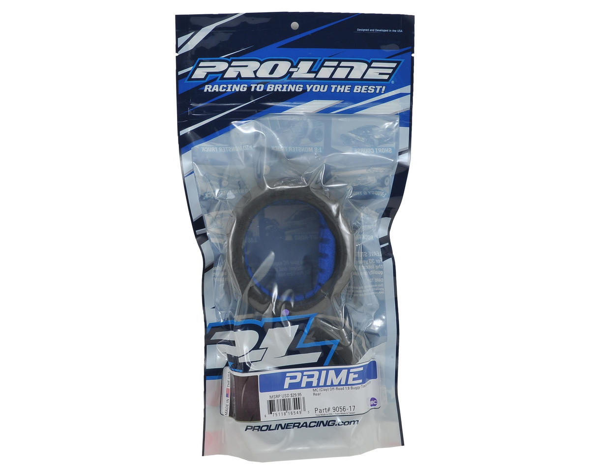 Pro-Line Prime 1/8 Buggy Tires w/Closed Cell Inserts (2) (MC)
