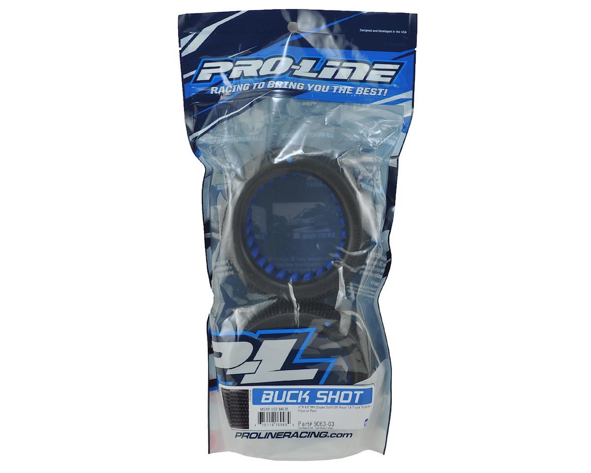 """Pro-Line Buck Shot VTR 4.0"""" 1/8 Truck Tires w/Foam (2) (M4)"""