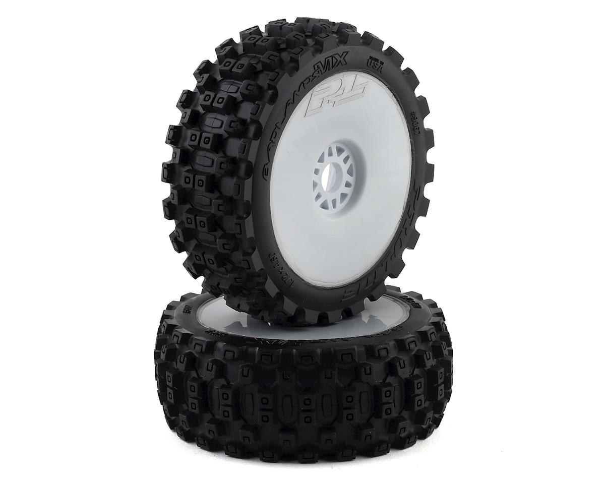 Pro-Line Badlands MX Pre-Mounted 1/8 Buggy Tires (White) (2) (M2)