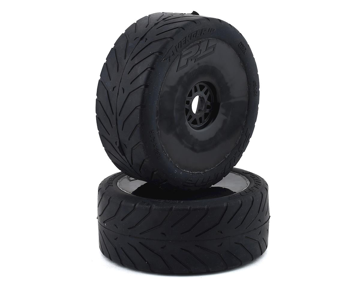 Pro-Line Avenger HP Belted Pre-Mounted 1/8 Buggy Tires (2) (Black) (Arrma Limitless)