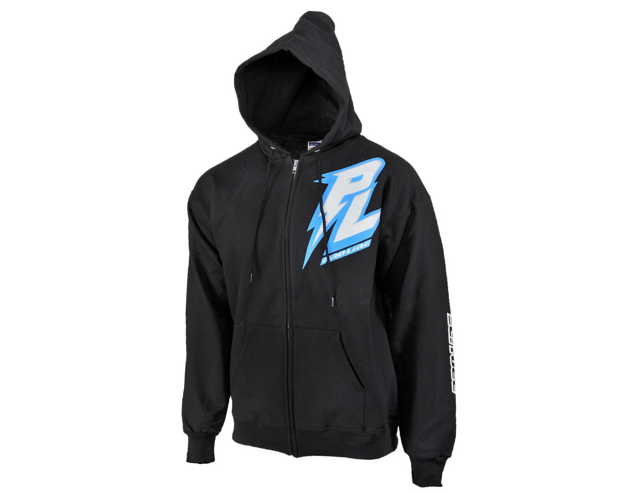Pro-Line Bolt Black Zip-Up Hoodie (2XL)
