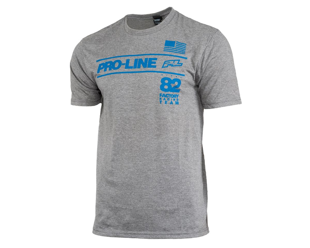 Pro-Line Factory Team T-Shirt (Gray) (L)