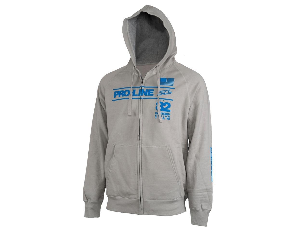 Pro-Line Factory Team Zip-Up Hoodie (Gray) (XL)