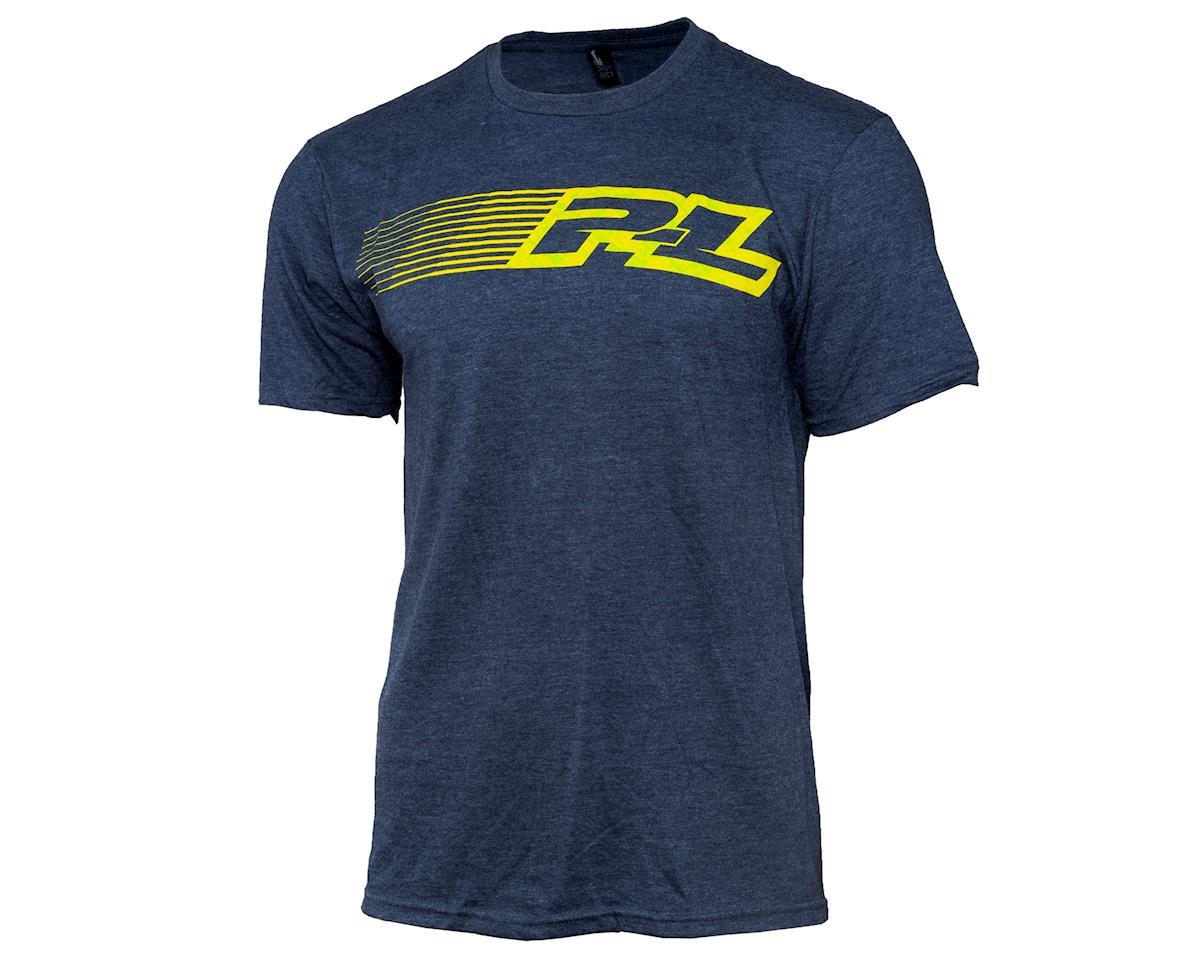 Pro-Line Linear Navy Blue Short Sleeve T-Shirt (L)