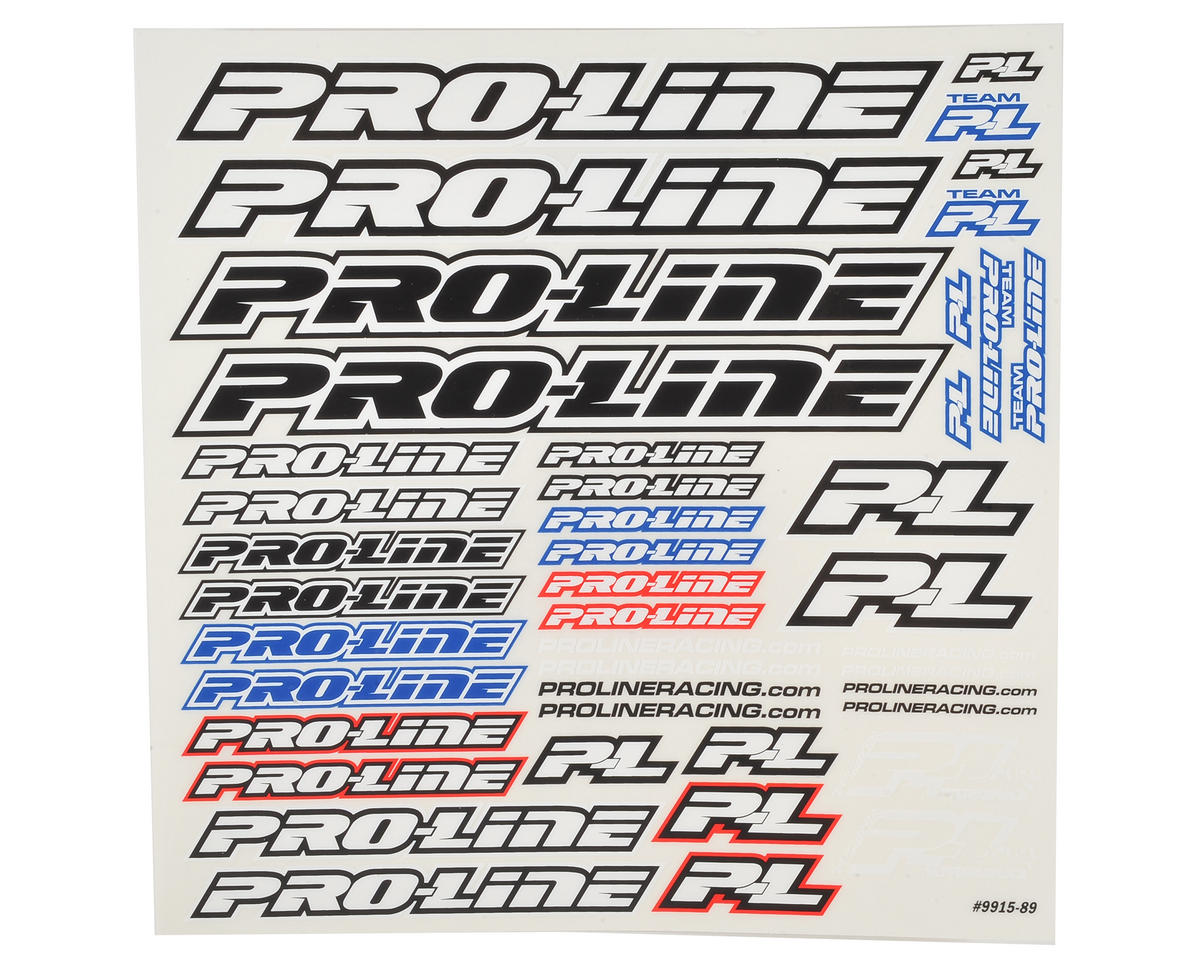 Pro-Line Decal Sheet