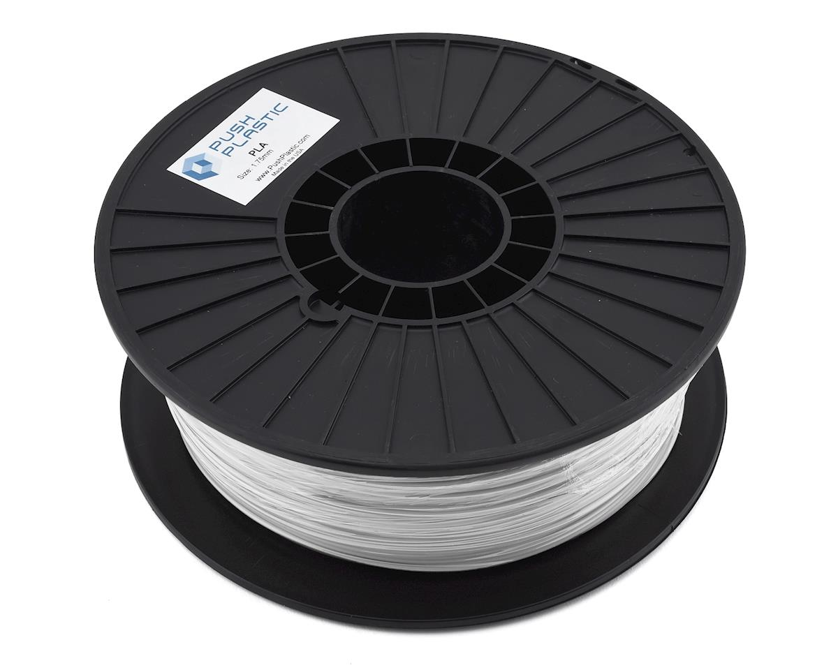 Push Plastic 1.75mm PLA 3D Printer Filament (White) (1.0kg)