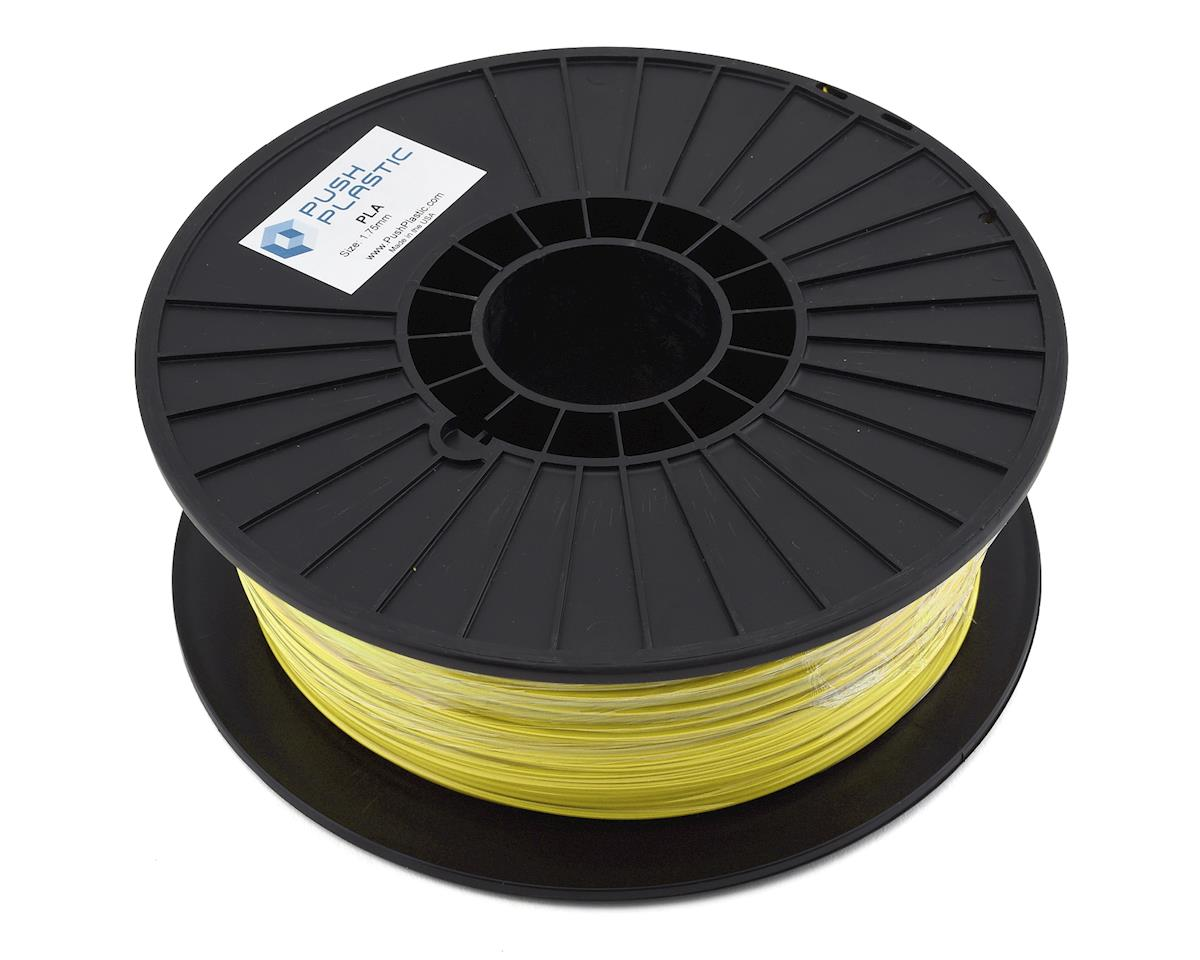 Push Plastic 1.75mm PLA 3D Printer Filament (Yellow) (1.0kg)
