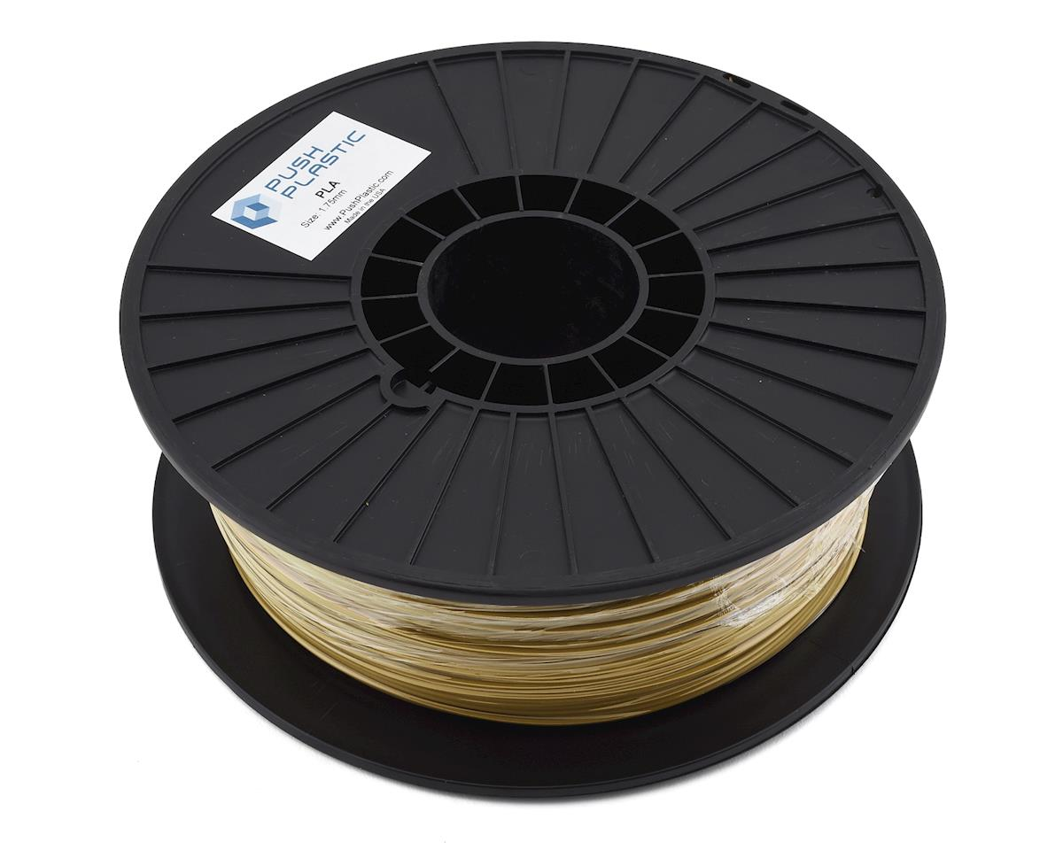 Push Plastic 1.75mm PLA 3D Printer Filament (Gold Metallic) (1.0kg)