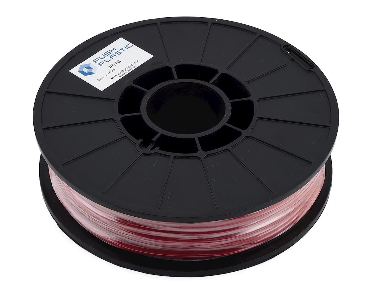 Push Plastic 1.75mm PETG 3D Printer Filament (Red) (.75kg)