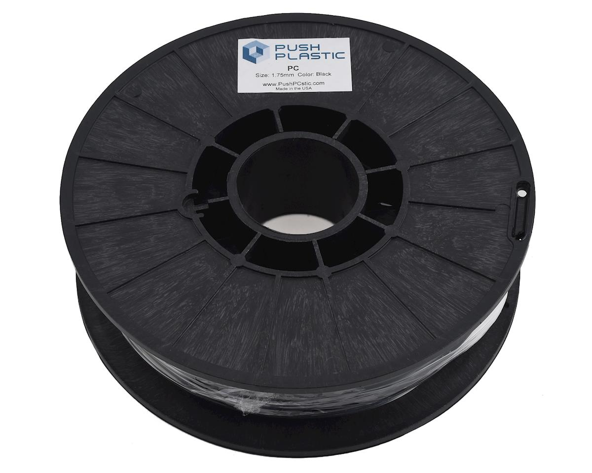 Push Plastic 1.75mm PC (Polycarbonate) 3D Printer Filament (Black) (.75kg)