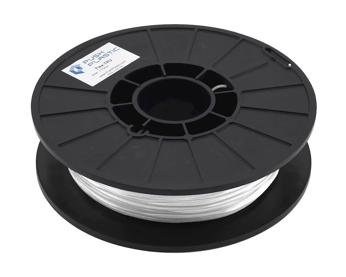 Push Plastic 1.75mm TPU 3D Printer Filament (White) (.5kg)