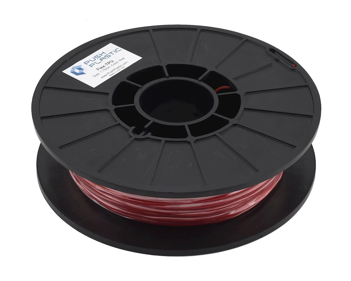 Push Plastic 1.75mm TPU 3D Printer Filament (Red) (.5kg)