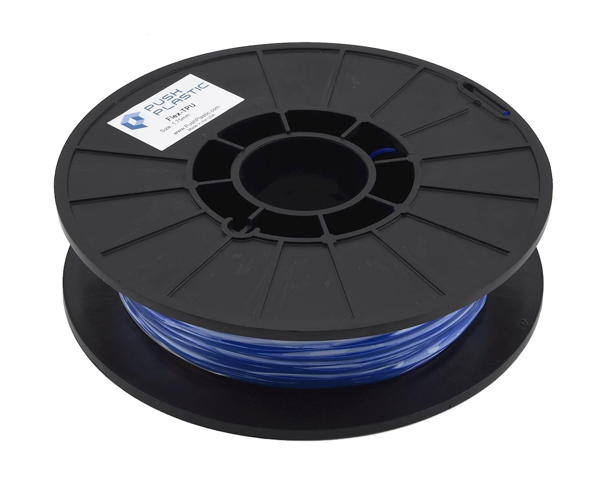 Push Plastic 1.75mm TPU 3D Printer Filament (Ultra Blue) (.5kg)