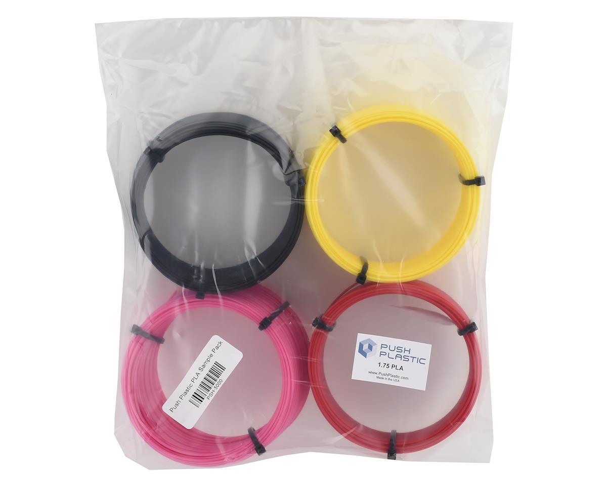 Push Plastic 1.75mm PLA 3D Printer Filament Sample Multi-Pack (4) (.1kg x 4)