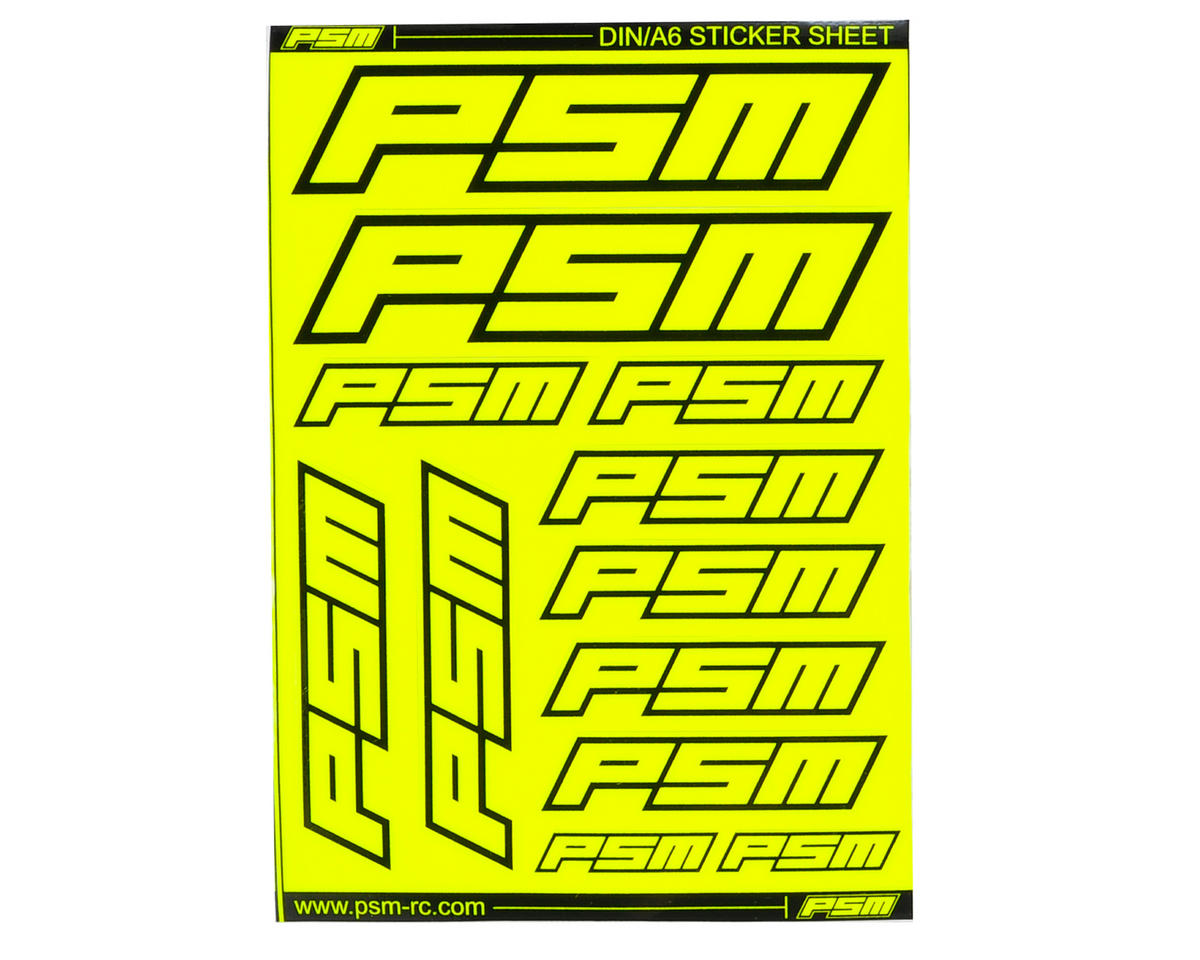 PSM A6 Sticker Sheet (Fluorescent Yellow)