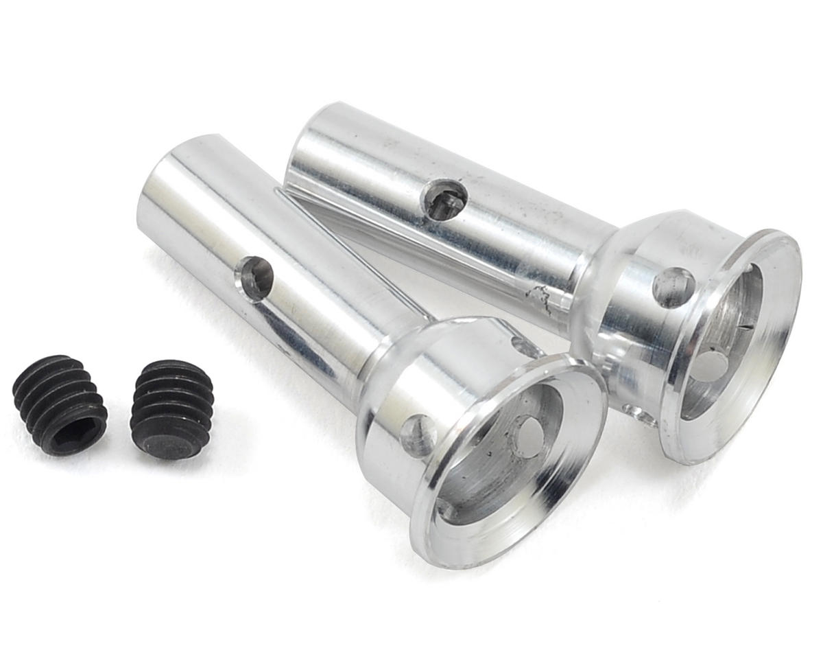 PSM Aluminum S104 Wheel Axles (Silver) (2) (Front/Rear)