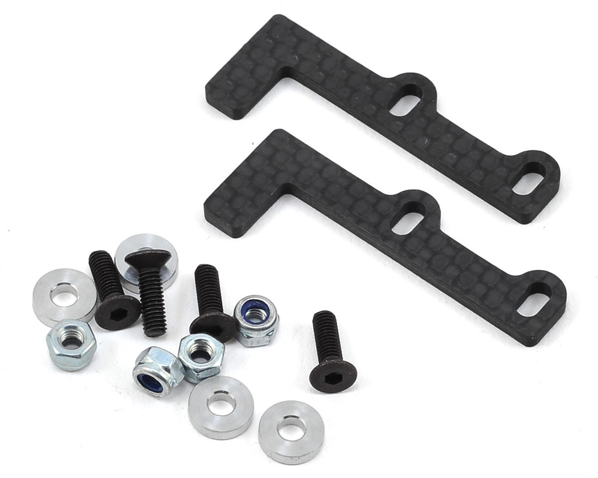 PSM 2.5mm Team Associated TC6.2 Carbon Battery Centering Brace Set (2)