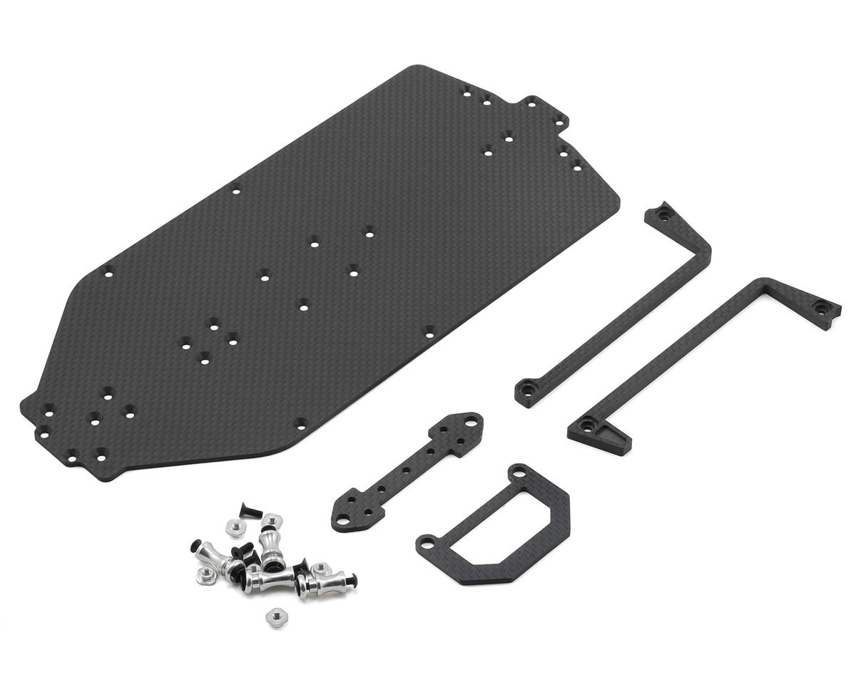 B44.3 2.5mm Carbon Shorty Conversion Main Chassis