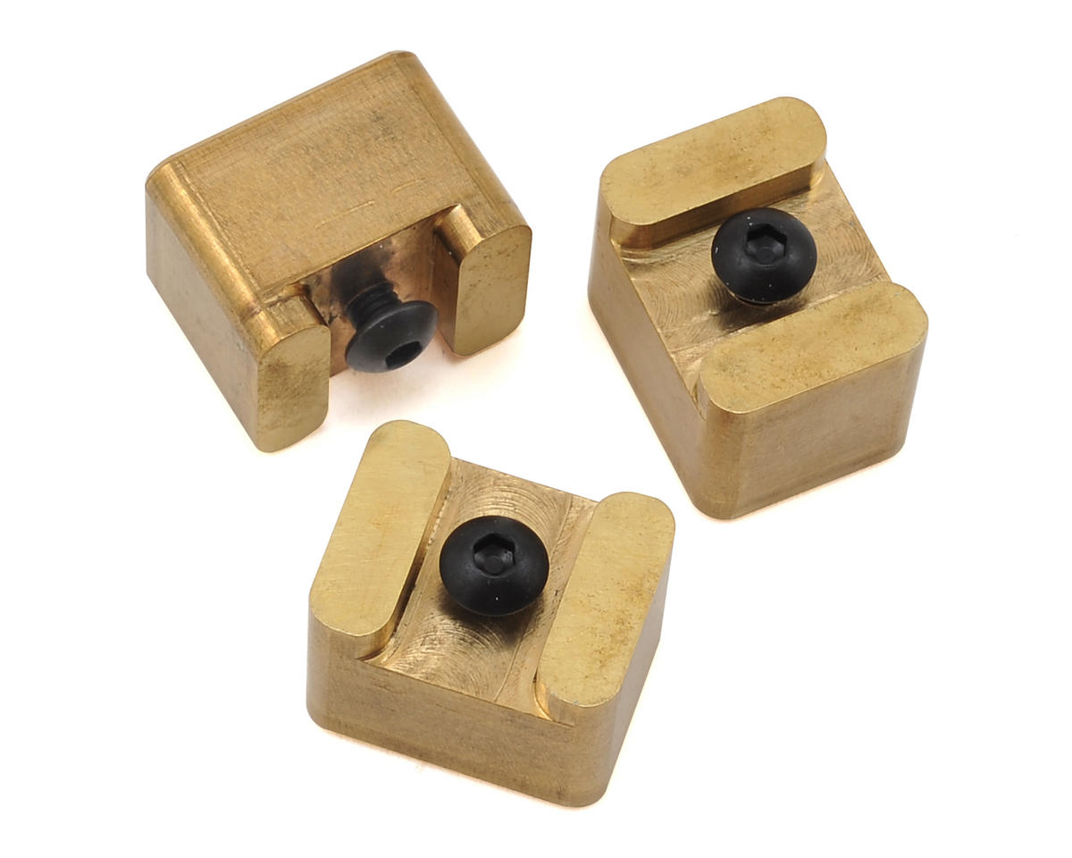 Brass Ballast Weights for B44.3 Shorty Chassis (3)
