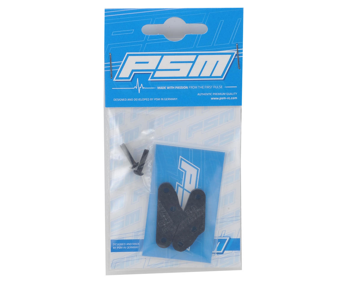 PSM RC8B3 3mm Carbon Steering Link Extension (2) (+3.0mm)