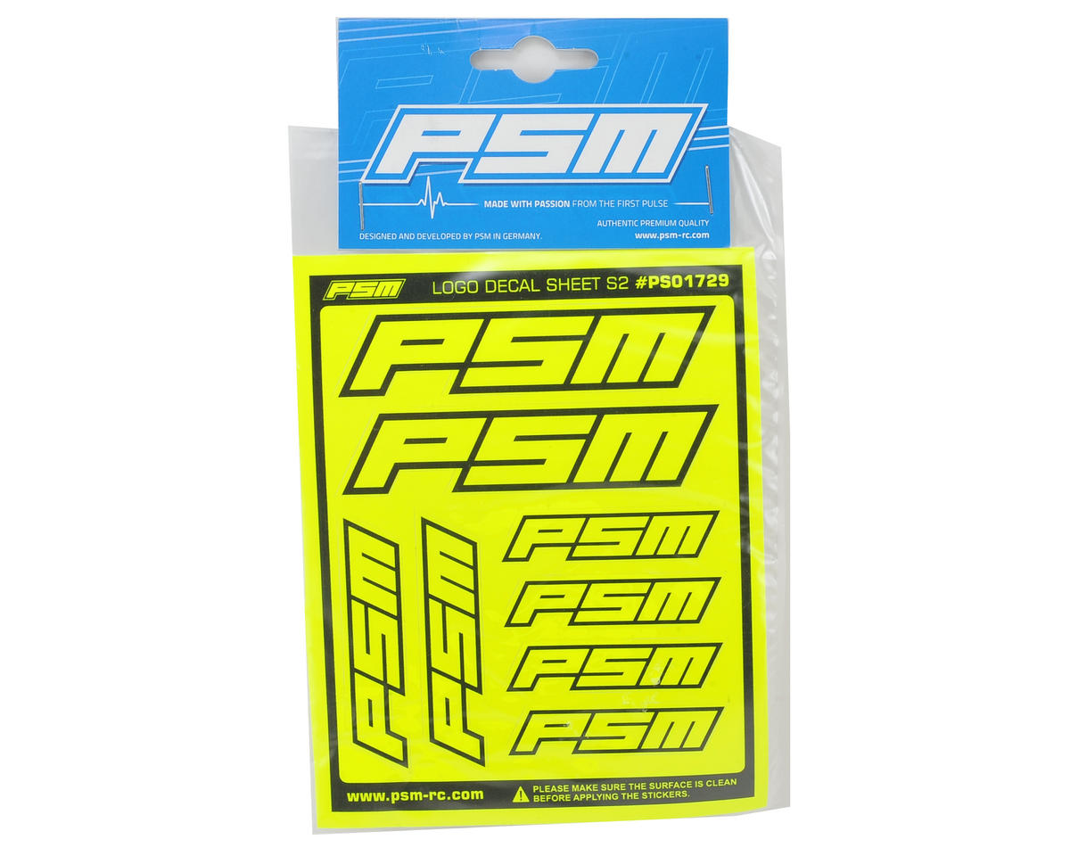 PSM S2 Sticker Sheet (Fluorescent Yellow)